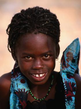 Portrait of Young Girl, Langue De Barbarie National Park, St. Louis, Senegal by Ariadne Van Zandbergen
