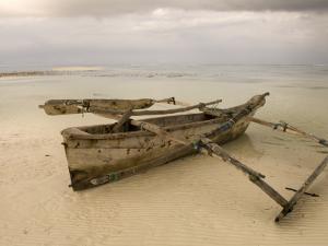 Pwani Mchangani Village on East Coast. Fishing Boat on Beach by Ariadne Van Zandbergen