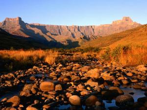 Thukela River and Amphitheatre, Northern Drakensberg, Royal Natal National Park, South Africa by Ariadne Van Zandbergen