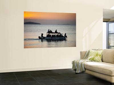 Tourist Boat at Sunset on Lake Malawi, Cape Maclear