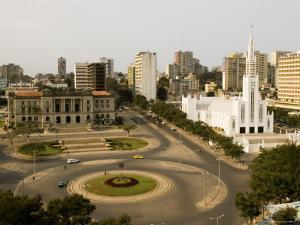 Town Hall, Catholic Cathedral and Roundabout, Maputo, Mozambique by Ariadne Van Zandbergen