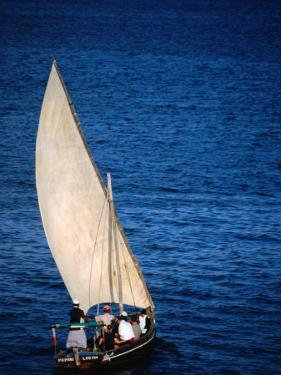 Traditional Dhow Leaving Port, Lamu, Coast, Kenya by Ariadne Van Zandbergen