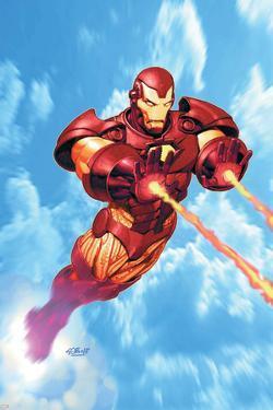 Iron Man: Iron Protocols No.1 Cover: Iron Man Fighting by Ariel Olivetti