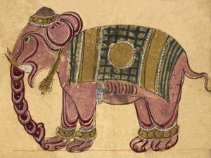 Elephant Wearing a Caparison by Aristotle ibn Bakhtishu