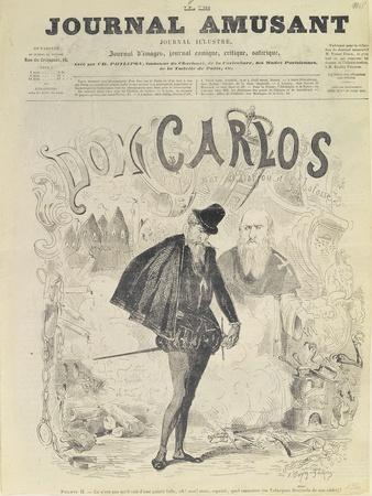 Front Page of 'Le Journal Amusant', with a Caricature of Don Carlos