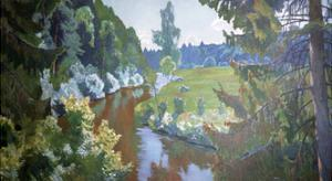 In the Green Banks by Arkadij Aleksandrovic Rylov