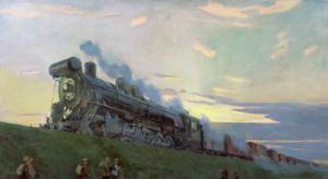 Super Power Steam Engine, 1935 by Arkadij Aleksandrovic Rylov