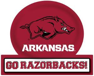 Arkansas Razorbacks Jumbo Tailgate Peel & Stick