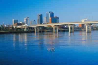 Arkansas River and skyline in Little Rock, Arkansas