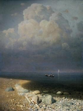 Lake Ladoga, 1873 by Arkip Ivanovic Kuindzi