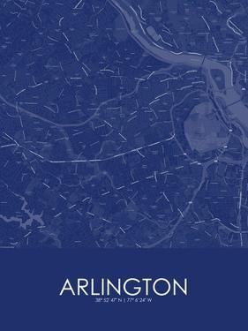 Arlington, United States of America Blue Map