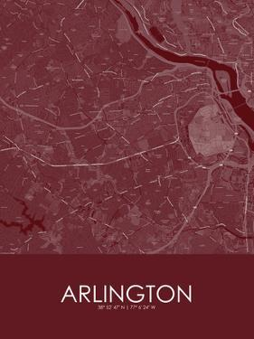 Arlington, United States of America Red Map