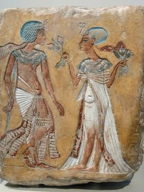 Armana Style Relief of a Royal Couple