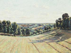 Hilly Landscape in La Creuse, C.1900 by Armand Guillaumin