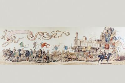 Picture Celebrating 50 Years of the Belgian Railway System from 1835 to 1885, 1886