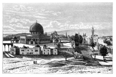 Omar's Mosque, Jerusalem, Israel, 1895 by Armand Kohl
