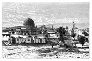 Omar's Mosque, Jerusalem, Israel, 1895 by Armand Kohl
