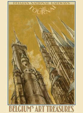 Tournai, Belgium - The Cathedral of Our Lady - Belgian National Railways by Armand Massonet