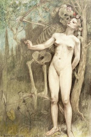 Female Nude with Death as a Skeleton, 1897