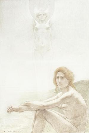 Seated Female Nude with Ghostly Female Figure in the Background, 1897