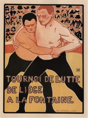 Wrestling Tournament, Liège, 1899
