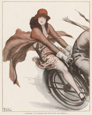 Flapper on the Pillion by Armand Vallee