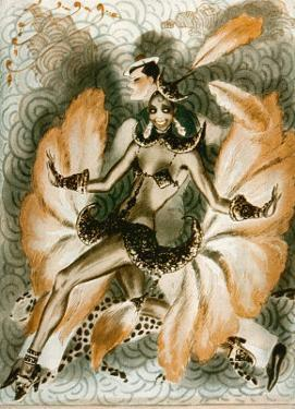 Josephine Baker Dancer in an Elaborate and Revealing Costume by Armand Vallee