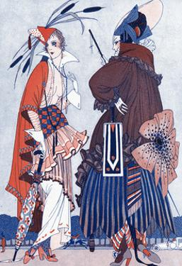 Two Women in Fashionable Clothing by Armand Vallee