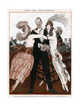 Wealthy Man with Women Admirers by Armand Vallee