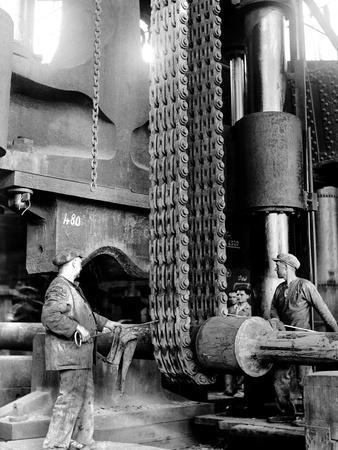 People Working at the Terni Metalworks Factory in Nera Montorio, Terni, Italy, c.1935