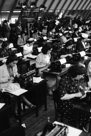 Typists Working, Italy, 1938