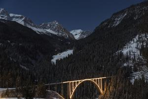 Christmassy Mood at Langwies in Canton of Grisons by Armin Mathis