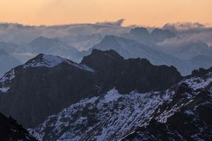 View of the Barbaren Rothorn at Lenzerheide by Armin Mathis