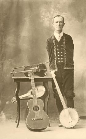 Armless Man with Stringed Instruments