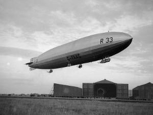 Armstrong Whitworth R33 Airship Outside the Hangars at Pulham in Norfolk, April 1925