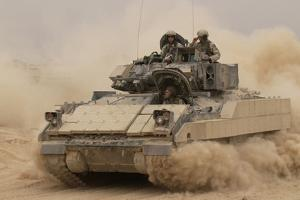 Army Bradley Fighting Vehicle in Iraq, Oct. 30, 2004
