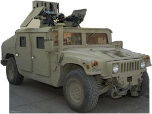 Army Hummer Lifesize Cardboard Cutout