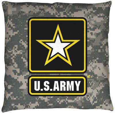 Army - Patch Throw Pillow