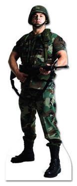 Army Soldier Lifesize Cardboard Cutout