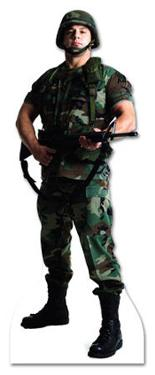 Army Soldier Lifesize Standup