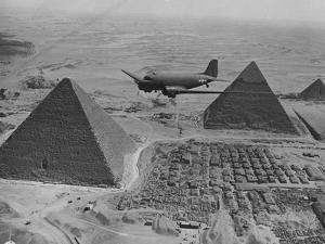 Army Supply Plane over the Pyramids