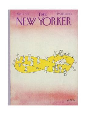 The New Yorker Cover - April 5, 1976 by Arnie Levin