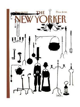 The New Yorker Cover - November 29, 1982 by Arnie Levin