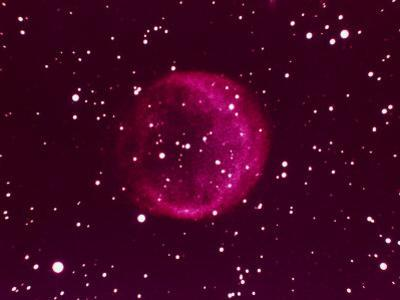 Ball of Red Gas in Space by Arnie Rosner
