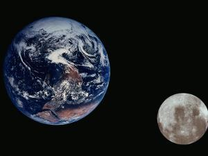 Earth and the Moon Seen from Space by Arnie Rosner