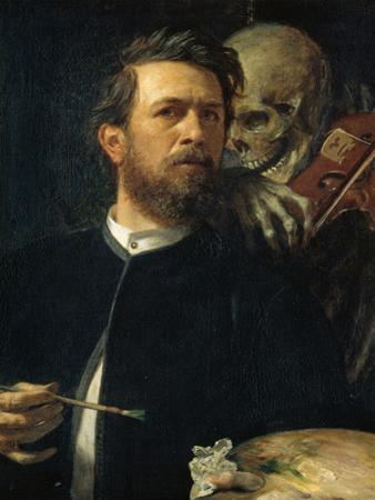 Self-Portrait with Death Playing the Fiddle, 1872 by Arnold B?cklin