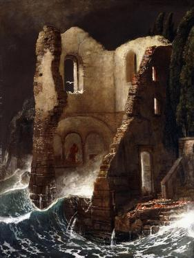 The Chapel; Die Kapelle, 1898 by Arnold Bocklin
