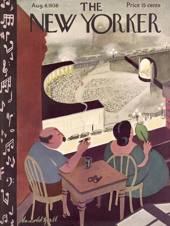 The New Yorker Cover - August 8, 1936