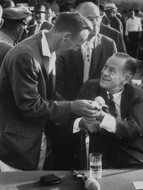 Arnold Palmer, Bobby Jones, Spectator at Masters' Tournament Play-Off