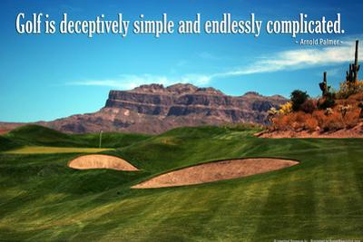 Arnold Palmer Golf Quote Poster